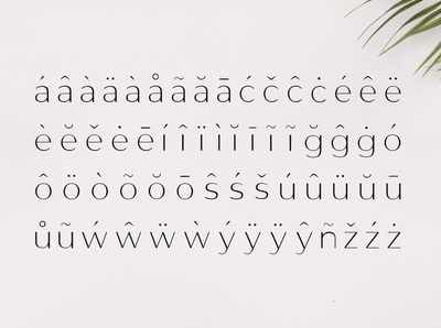 Gantic Font Family - Sans Serif - Accented Characters 02