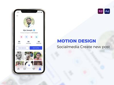 Social Media Profile Page - Mobile App Design