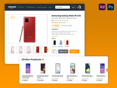 Amazon Shopping E-Commerce Site Redesign