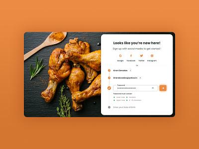 Register / Signup Form - Food Delivery App webdesign food delivery app food app register signup