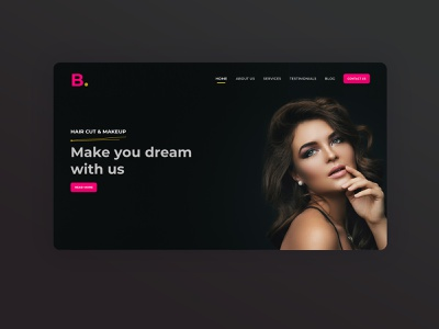 Beauty Cosmetic Shop Webdesign Landing Page pink ladies landing page lady costumes makeup cosmetic webdesign