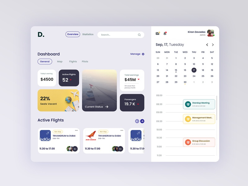 Airlines Company Analytical Dashboard flights airlines calendar ui dashboard ui dashboad webdesign