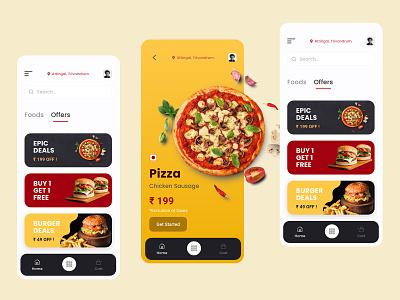 Pizza & Food Delivery Mobile App Design ui design uidesign inspiration swiggy zomato uber eats food deals android food delivery mobile app food delivery app dominos pizza pizza app pizza