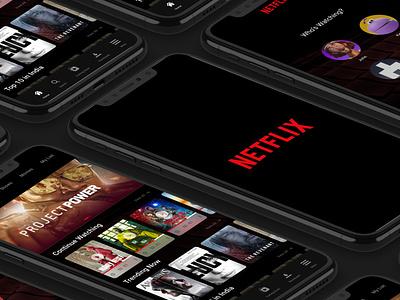 Netflix Redesign Concept Mobile App Design film app mobile app ott breakingbad money heist prime videos amazon prime netflix and chill ott platform netflix platform netflix