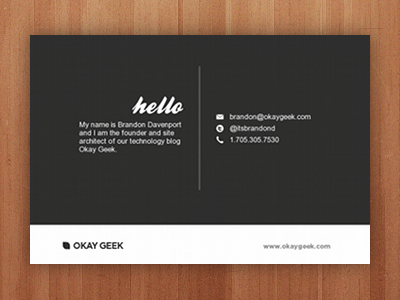 New Business Cards Back By Brandon Davenport Dribbble Dribbble