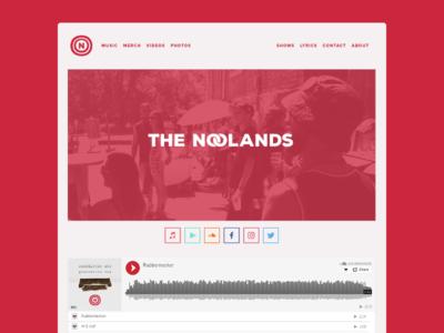 The Noolands Website 2.0 (Homepage)