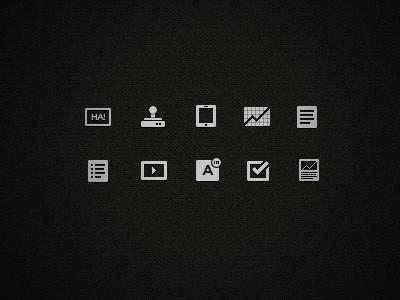 Icons for an internet I'm making icons ui design gimp