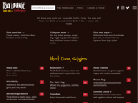 foxx.bar / The Foxx Hotdoggery (Menu)