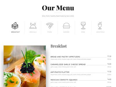 Caravita Restaurant travel shop scroll restaurant parallax marketing event creative corporate conference business artist