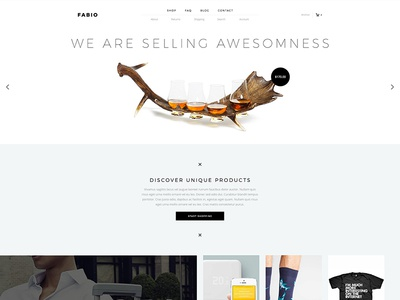 Fabio clean minimal flat ecommerce shop slider woocommerce