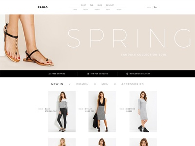 Fabio woocommerce slider shop ecommerce flat minimal clean