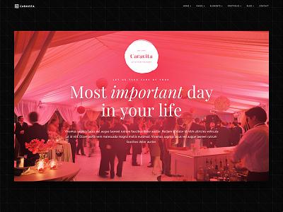 Caravita Events artist business conference corporate creative event marketing parallax restaurant scroll shop travel
