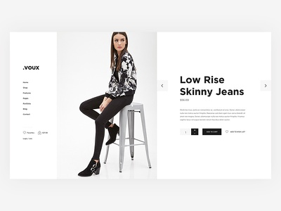Voux store full screen flat minimal ecommerce clean bootstrap