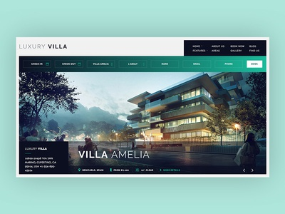 Luxury Villa booking wordpress ui ux villa luxury