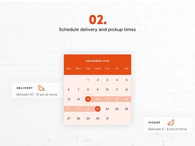 PAQD personality modern interface flat elegant rent calendar creative clean bold booking business