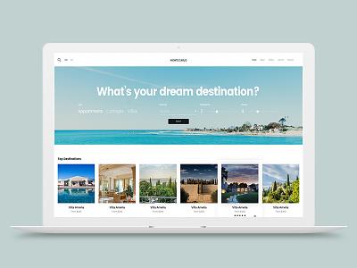Monte Carlo rent modern interface flat elegant creative clean wordpress villa appartment luxury booking