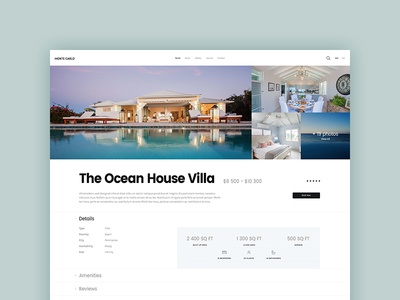 Property Page booking luxury appartment villa wordpress clean creative elegant flat interface modern rent