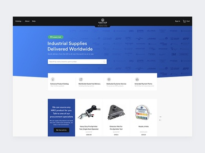 Raptor Supplies store shop ecommerce minimalistic redesign future design clean web design product interface ui ux