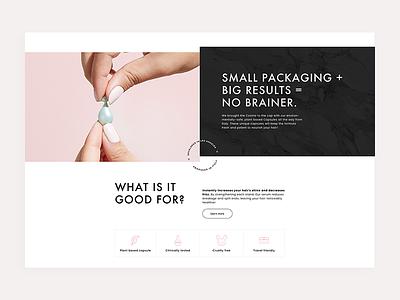 Remilia Hair web design ux ui store shop redesign product minimalistic interface future ecommerce design clean