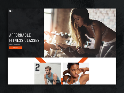 Fildisi Gym web design ux ui gym fitness redesign sport minimalistic interface future ecommerce design clean