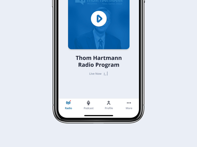 Live Stream Podcast Player Prototype hifi prototype motion ui product design product audio player audio stream podcast app