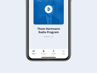 Live Stream Podcast Player Prototype