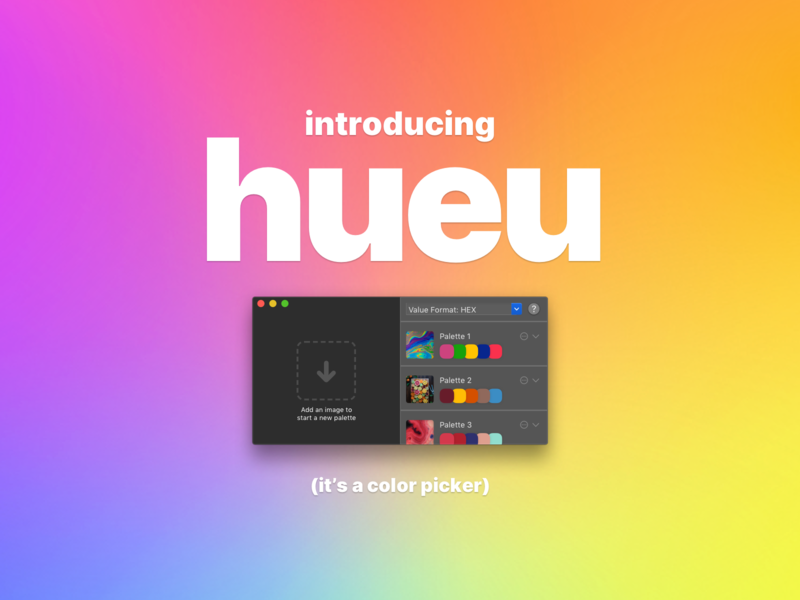 hueu product design ux ui apple mac app swiftui hueu neue hue utility picker color app macos