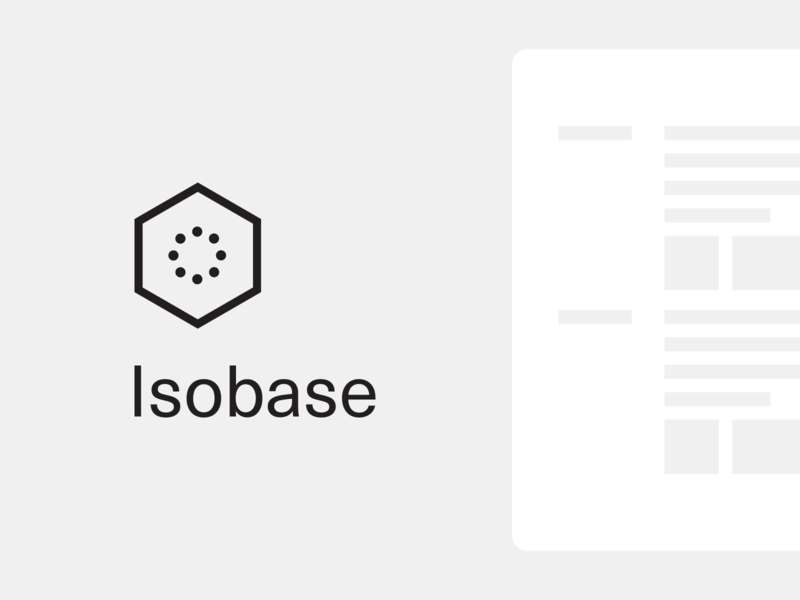 Isobase Logo proof of concept react js html css starter kit design system internal tooling framework