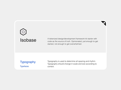 Isobase Proof of Concept proof of concept sketch style guide design system starter kit html js css framework design tokens