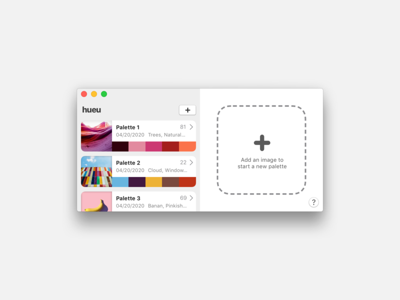hueu macOS design iteration (light + dark) hueu color swiftui macos ui app product design