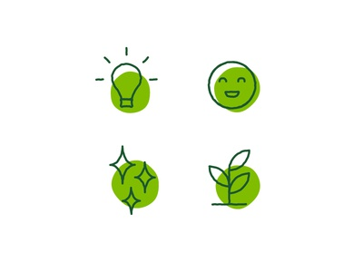 Illustrative icons for Harper's Playground