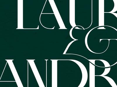 Lauren & Andrew Logotype