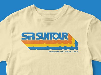 SR SUNTOUR Retro Tee branding retrowave vintage 80s retro tee