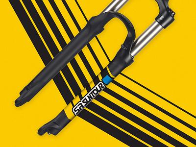 SR SUNTOUR Fork Decals mountain bike action sports design suspension mtb decals branding