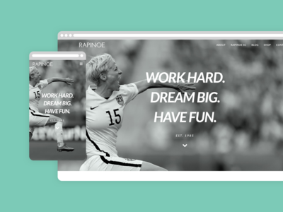 Rapinoe US Website Homepage