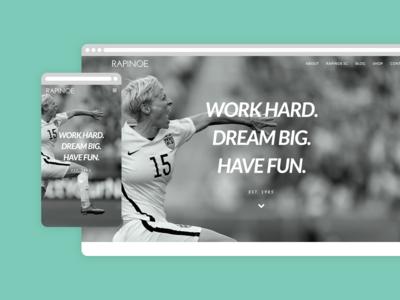 Rapinoe US Website Homepage