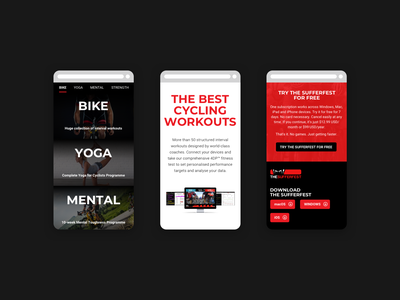 The Sufferfest Website + Ecommerce Shop sports action sports online shop ecommerce web design cyclist training cycling shopify
