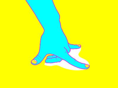 CSC Experiments NO. 09, 04, and 11 pop warp glitchart video art glitch yoga illustration hand experiment