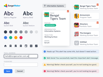 SurgeMaker · Design System apercu analytics data dashboard web product design data visualization dataviz data viz enterprise ui kit design system