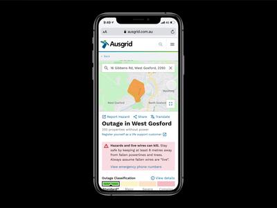 Ausgrid CX · Outage Website dataviz alert map cx cx design customer service mobile web product design