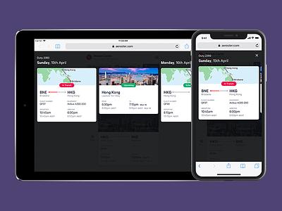 Aeroster · Mobile-first, desktop-next app calendar calibre flight mobile roster schedule timezone travel web branding logo