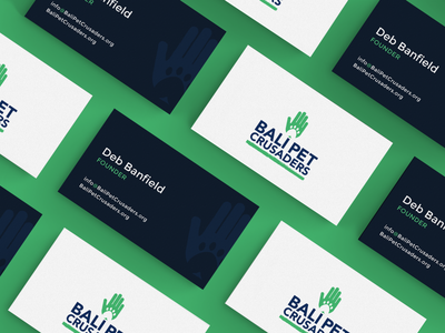 Bali Pet Crusaders Nonprofit Business Cards branding and identity brand identity business card design charity minimal typography vector logo nonprofit branding design branding brand business card custom design design agency