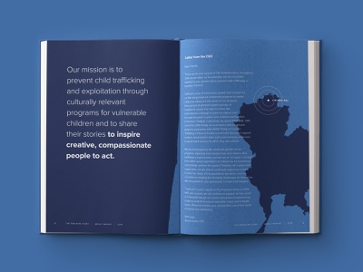 The Freedom Story Annual Impact Report annual report brochure annual report brand design brand identity brand minimal vector branding charity illustration typography custom design colorful nonprofit design agency