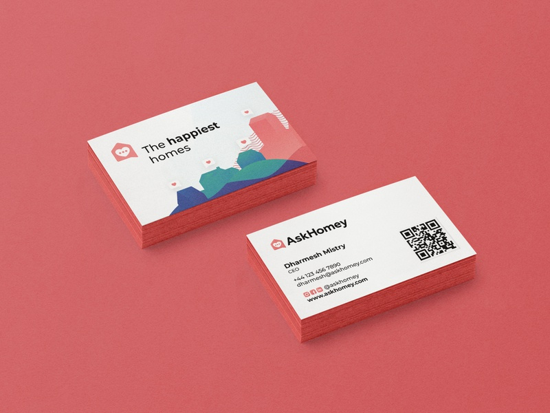 AskHomey Business Card Mockup business card design business cards business card businesscard custom design branding colorful minimal design agency