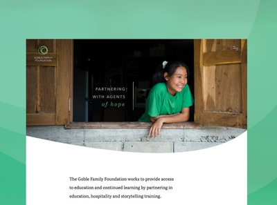 Goble Family Foundation Website Design non-profit nonprofits charity nonprofit custom design ui web design web development web design agency minimal design agency website design webdesign website