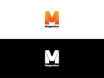 Megaview logo branding graphic logo news app media logo website news media game