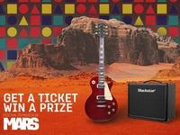 Mars Music fest smm post illustration graphic branding logo fest smm post guitar music mars