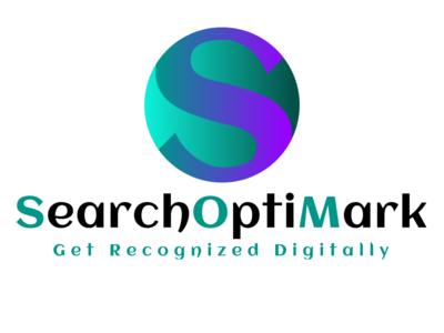 SearchOptiMark Logo White Background
