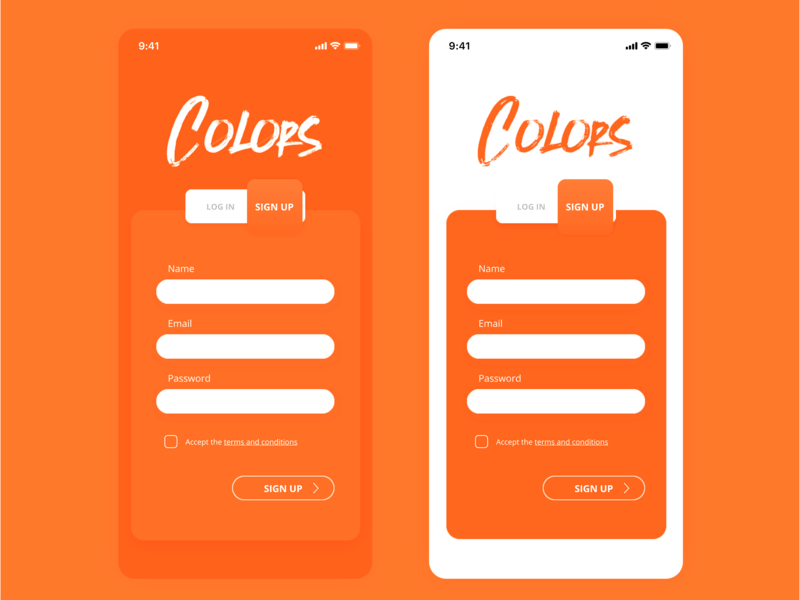 Daily UI #001 - SignUp mobile app user experience user interface signup 100 day ui challenge 100 day challenge daily ui 002 daily ui 001