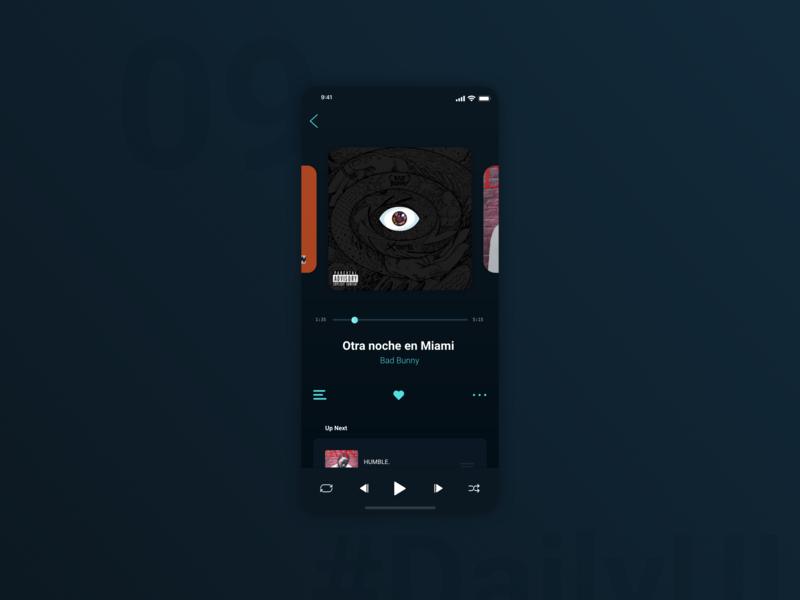 DailyUI 009 - Music Player dark mode now playing music app music player ui music player app music player daily ui 009 app 100 day ui challenge daily 100 challenge 100 day challenge user interface user experience ui